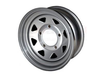 Silver 8 Spoke 7x16 Steel...